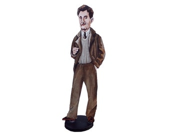 George Orwell Hand Painted 2D Art Figurine