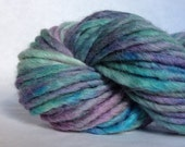 "Hand painted bulky merino blend in ""Mother of Pearl"""