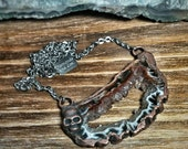 Calavera Crystals Collection No. 16 - Geode Slice with Skull - Druzy