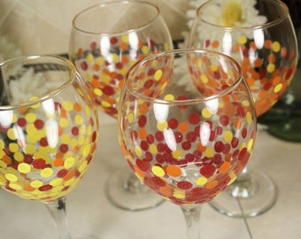Hand Painted Wine Glasses, Painted Wine Glasses, Birthday Gift Idea, Wine Glasses Friend, Wine Glass Set