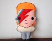 "Felt 5.5"" David Bowie - Pocket Plush toy"
