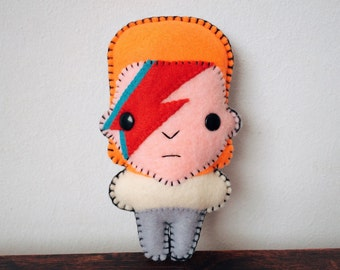 "Felt 5.5"" David Bowie - Pocket Plush toy"