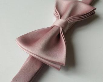 Dusty Rose Light Rose Blush pin kids boys men bow tie
