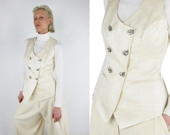 SALE % CHRISTIAN DIOR Boutique Vintage Silk Vest / Waistcoat