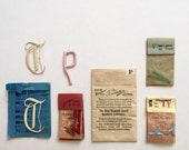 Lot of mixed embroidery letters
