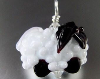 """Lampwork handmade """"Lamb"""" Flamework By Bernadette Fuentes"""