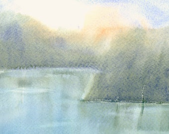 Abstract Landscape Artwork Fine Art Print from Original Watercolor Study