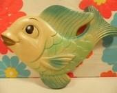 Chalkware Fish Miller Studio Bathroom Decor Vintage 1960s