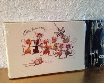 Vintage Invitations, Vintage Stationery, New Party Invitations, Invitations with Envelopes