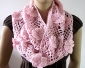 CROCHET PATTERN SCARF - Floral Whisper scarf - Lace Crochet Scarf pdf pattern Instant download woman crochet scarf pattern