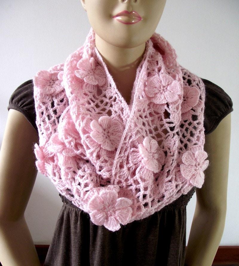 CROCHET PATTERN SCARF Floral Whisper scarf Lace Crochet