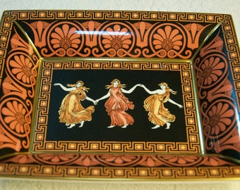 Authentic Wedwood Etruscan Dance Bicentry Tray With Original Box