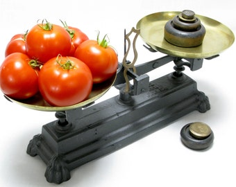 French Balance, French Scales, Vintage Scales, Brass & Cast Iron Scales, Cast Iron Scales