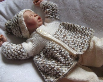 "ALMOST FREE Coffee n Cream- To fit 20-22"" Reborn/0-3 Months Baby - Knitting Pattern"