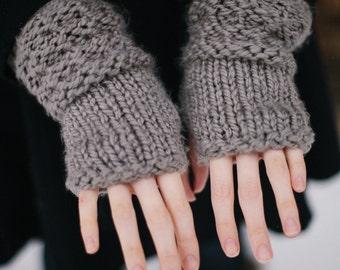 Set of Knit Fingerless Gloves