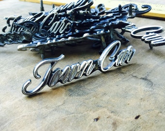 Vintage Lincoln town car hood ornament - Lincoln towncar auto emblem - vintage car badge - car emblem