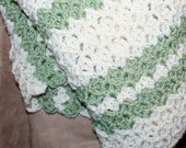 Easy Afghan Pattern Crochet Throw Textured Stitch Reversible 3 sizes Guide included for using your favorite size hook and yarn weight PDF