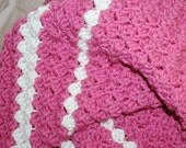 Easy Blanket Pattern Afghan / Throw Blanket Puffy Textured Reversible 3 sizes Guide included for using your favorite size hook - yarn weight