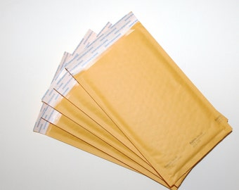 """Bubble Pack Mailers 5x10"""" Kraft #00 Shipping Packaging Supplies 5 Pc Shipping Supply Envelopes Bubble Pack Paper Envelopes by CzechBeadery"""