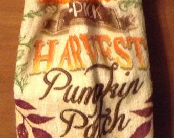 Fall Crochet Kitchen Hand Towel