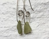 Silver and Sea Glass Earrings