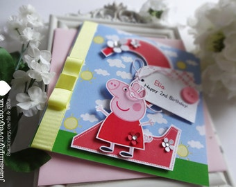 Peppa Pig Themed Birthday Card!