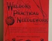 "Rare and Original ""Weldon's Practical Needlework""   Volume 1   c.1900 - Original Cloth Bound"