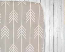 Custom Fitted Crib Sheet- Arrows- Mini Crib, Standard Crib and Stokke or Oval Crib Sheet