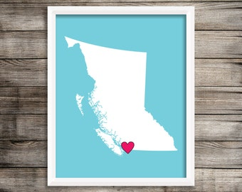 Lower Mainland Vancouver BC Canada home decor Art Print ~ Digital Download.