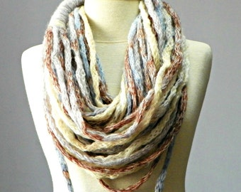 Ombre, infinity scarf, chunky scarf, Cowl scarf, winter accessories, tube knit scarf, circle scarf, cowl scarf, chunky scarves, knit scarf