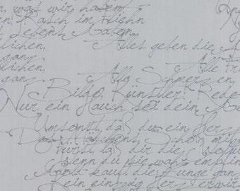 Modern Background Essentials by Brigitte Heitland for Zen Chic - Basic Handwriting Ink - Grey - 1/2 Yard Cotton Quilt Fabric 516