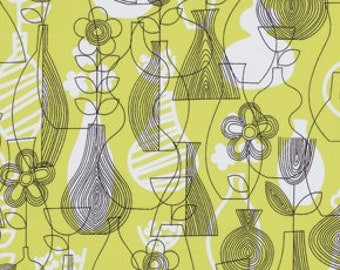 Astrid by Erin McMorris for Free Spirit - Lena - Chartreuse - 1/2 Yard Cotton Quilt Fabric 516