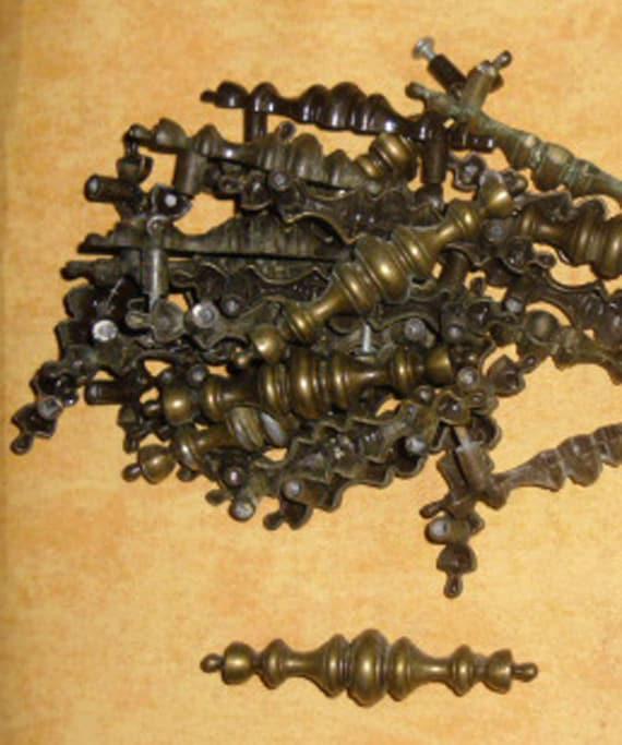 antique brass finish hardware antique brass pulls cabinet or drawer mid century hardware. Black Bedroom Furniture Sets. Home Design Ideas