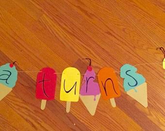 Custom Handcut Ice Cream & Popsicle Banner