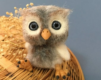 Owl, Baby Owl Custom Order Only by Marina Lubomirsky