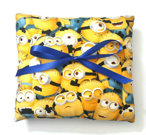 minions despicable me wedding ring pillow 6x6 inch pillow