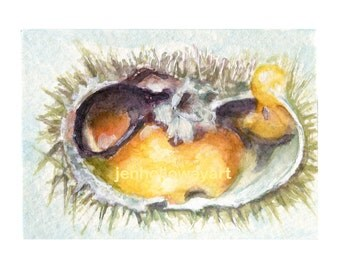 Watercolor Uni, Uni Print, Sea Urchin Print, Sea Urchin Art