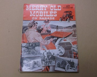 """1951 """"Merry Old Mobiles On Parade"""" Automobile Book/Vintage Auto Book"""