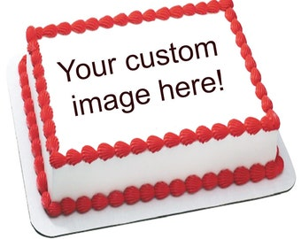 Custom image of your choice cake topper cake transfer edible image decal sugar frosting icing sheet