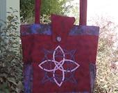 Custom Order for Karen B. Celtic Knot Quilted Tote - Fantasy Art - Fiber Art