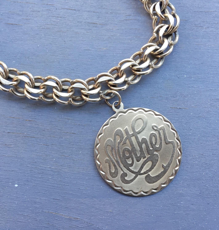 Vintage 14k Gold Charm Bracelet: Vintage 14k Gold Mother Daughter Charm Bracelet Mom Jewelry