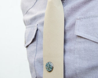 Pin - tie pin, Collar pin, recycled circuit board, fathers day gift, gift for him, men's