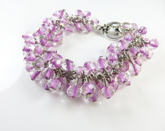 Girls lavender cha cha bracelet