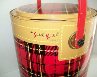 Vintage Skotch Kooler 4 Gallon 1950's Camping Tailgate Picnic Fishing Cooler