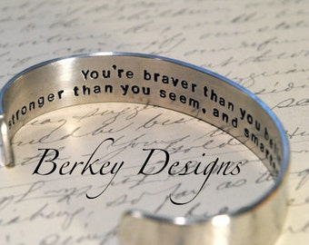 Design Your Own Custom Personalized Secret Message Hand Stamped Bracelet- Personalized Bracelet