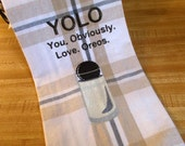 Embroidered Towel - Kitchen Towel - Food Kitchen Towel - Food Towel - Food Lover Gift - Funny Kitchen Towel - Food gift - YOLO - Oreo towel