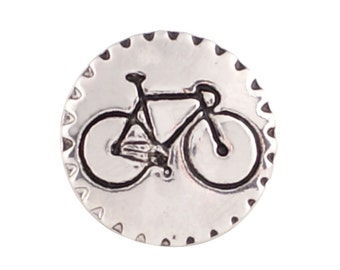 1 PC - 18MM Bike Bicycle Silver Charm for Candy Snap Jewelry KC9622 Cc2286