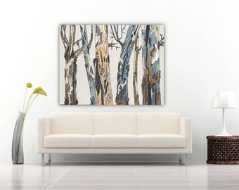 extra large wall art canvas abstract acrylic by shoagallery. Black Bedroom Furniture Sets. Home Design Ideas
