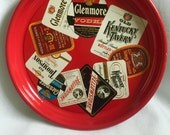 SALE Vintage Cocktail Serving Tray, Bar Tray, Tavern Tray, Liquor Tray Rare Advertising GLENMORE - KENTUCTKY Metal Beer Serving Tray 1950's
