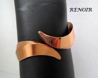 Renoir Copper Cuff Modernist Bracelet